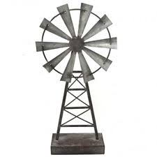 metal windmill rustic garden sculpture ornament iron table top