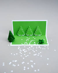 christmas pixel popup cards minieco