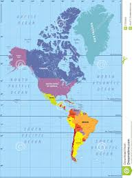 Map Of North America Map by Map Of North And South America Within Map Of North And South