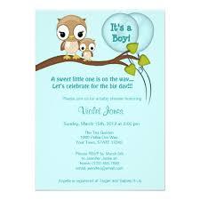 Owl Baby Shower Boy - personalized owl baby shower invitations custominvitations4u com