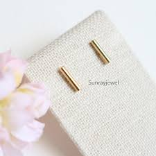 gold bar stud earrings small bar stud earrings in gold gold bar earrings simple