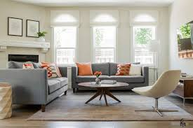 room grey orange living room design decor luxury with grey