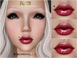 lip rings com images Second life marketplace punch basic lip piercings i mesh jpg