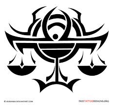 tribal libra design tattoos libra