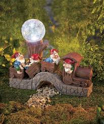 brilliant gnome garden decor motorcycle gnome garden light solar