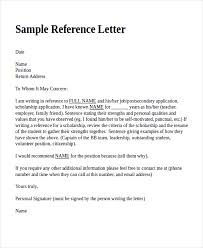 Reference Letter 18 reference letter template free sle exle format letter of