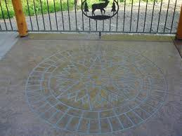 compass medallions pinterest compass stencil concrete and slate