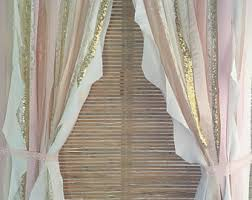 Beige And Pink Curtains Decorating Pink Gold Nursery Etsy