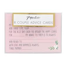 wedding advice cards wedding advice cards set of 8