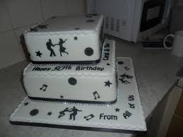 2 tier musical black white rock n roll birthday cake a photo on