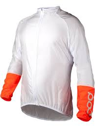 lightweight mtb jacket poc hydrogen white zink orange 2017 avip lightweight windbreaker