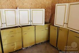 Antique Metal Kitchen Cabinets Harvest Gold Kitchen Cabinets Vintage St Charles Retro Renovation