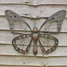 large decorative metal butterfly garden wall art black brown