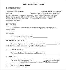 partnership business agreement template boblab us