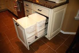 kitchen cabinet trash pull out kitchen trash pull out progood me