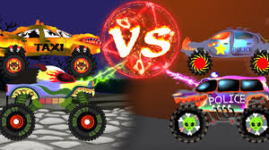 kids monster truck video haunted house monster trucks children scary taxi trucks for kids