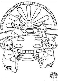 teletubbies lunch coloring free
