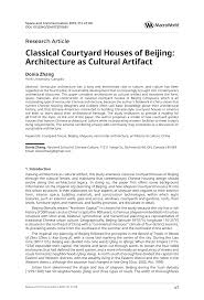 classical courtyard houses of beijing architecture as cultural classical courtyard houses of beijing architecture as cultural artifact pdf download available