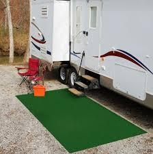camping rv area rug green 6 ft x 8 ft indoor outdoor camper