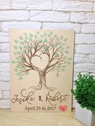 engravable wedding guest book wedding guest book tree thumbprinti guestbook alternative wooden