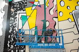 the resurrection and destruction of a roy lichtenstein mural wsj mural artist marcine franckowiak paints part of greene street mural a 96