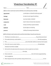 5th grade vocabulary worksheets u0026 free printables education com