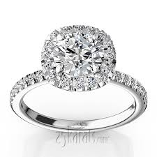 engagement rings with halo forged micro pave set engagement ring 1 2 ct t w