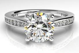 channel set engagement rings ritani tapered channel set engagement ring ritani