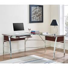 Z Line L Shaped Desk by Monarch Black Metal L Shaped Computer Desk With Tempered Glass