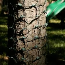 wrap tree trunks with these 8x2 foot net lights
