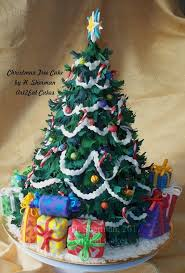 Custom Made Christmas Decorations by Hand Made Christmas Tree Cake Art By Art2eat Cakes Llc