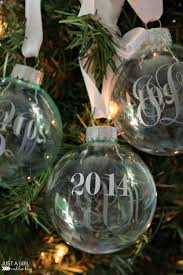 monogrammed christmas monogrammed christmas ornaments just a girl and