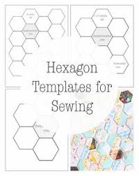 1 4 inch hexagon acrylic template template patchwork and
