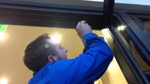 commercial aluminum glass doors how to adjust a center hung door youtube