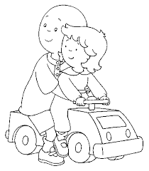 caillou coloring pages kids caillou birthdays