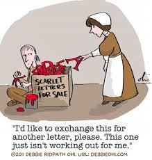 image result for scarlet letter editorial cartoons the scarlet