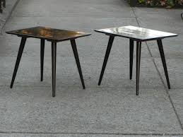 paul mccobb planner group side end tables restored in espresso