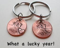 1 year anniversary gifts for boyfriend personalized keychain couples keychain by jewelryeveryday