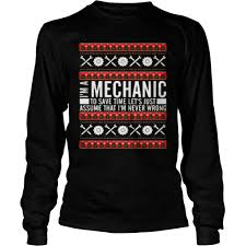 men mechanic christmas sweater