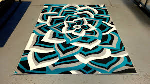 Teal Floor Rug Incredible Teal And Black Area Rug Attractive Clubnoma Com