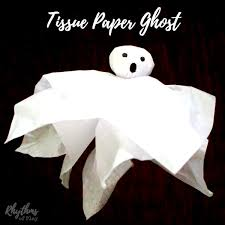 Halloween Craft Ideas For Toddlers - tissue paper ghost craft rhythms of play