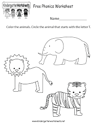 phonics worksheet for kindergarten worksheets