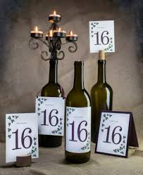 themed table numbers wine themed favors wedding decor wine country occasions