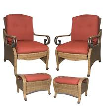 Patio Chair With Ottoman Incredible Patio Chairs With Ottoman For Quality Furniture With