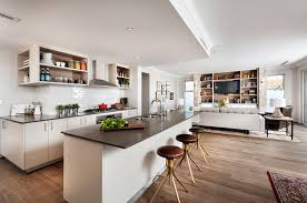 kitchen fearsome ideas for open plan kitchen and living areas