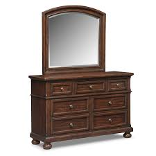 hanover youth dresser and mirror cherry american signature