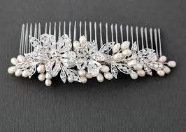 pearl hair comb pearl wedding combs bridal combs with pearls lynne
