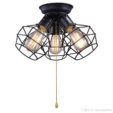 2017 wire cage ceiling lights 3 lights ceiling lamp for garage