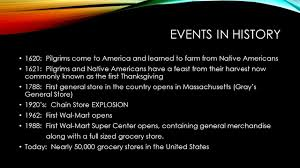 thanksgiving 1620 supermarkets past and present ppt download