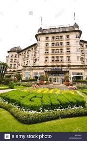 regina palace hotel stresa lago maggiore piedmont italy stock